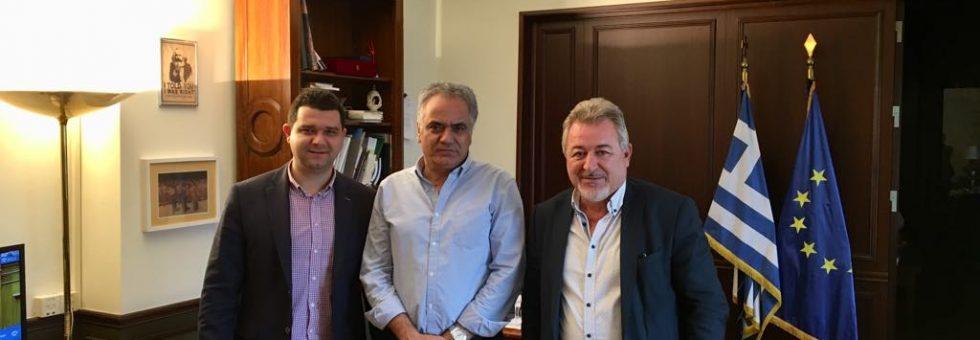 Συνάντηση του Μάριου Κάτση και του Δημάρχου Ηγουμενίτσας με τον Υπουργό Εσωτερικών