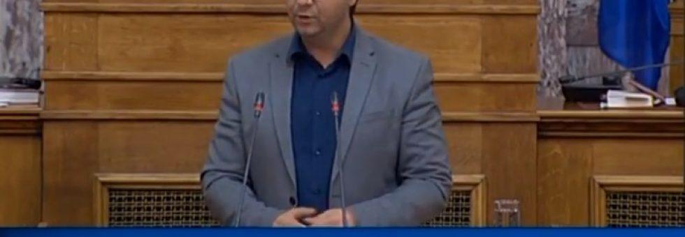 Ομιλία στη Βουλή για Παν/μιο Ιωαννίνων κ το Τμήμα Μετάφρασης & Διερμηνείας στην Ηγουμενίτσα