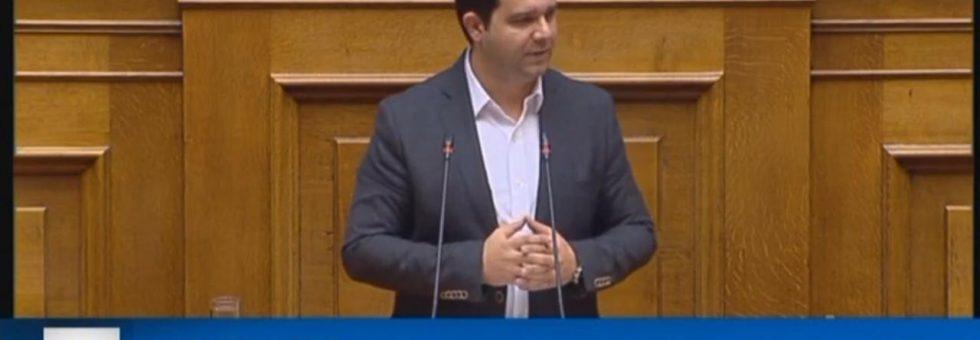 "Oμιλία στη Βουλή για τον προϋπολογισμό του 2019- ""Πρώτη φορά μετά από 9 χρόνια προϋπολογισμός έχει μόνο θετικά μέτρα χωρίς περικοπές"""
