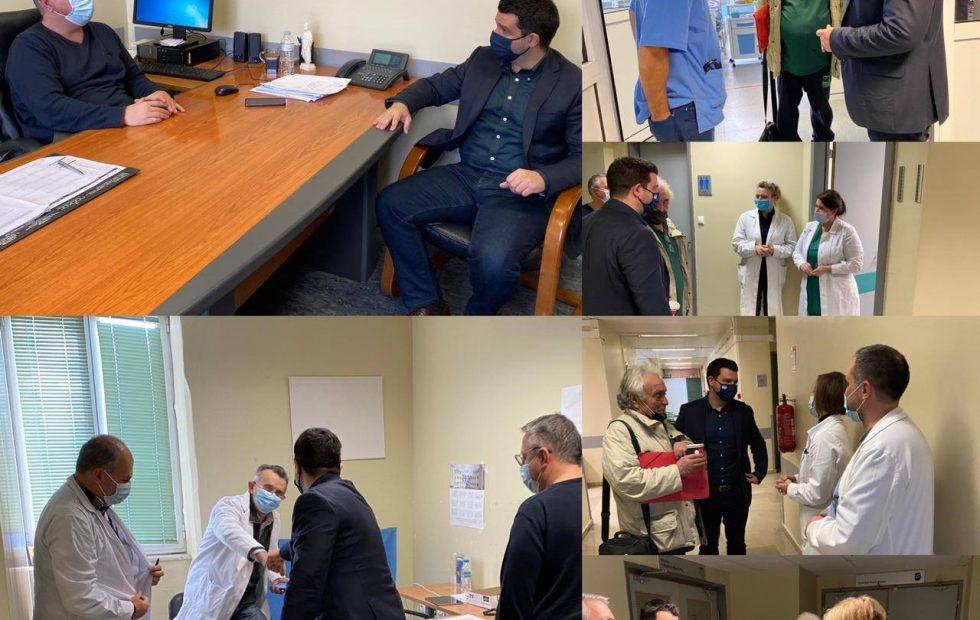 Επίσκεψη του Μάριου Κάτση στο Νοσοκομείο Φιλιατών